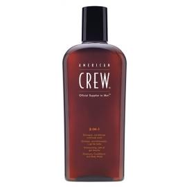American Crew - 3in1 Pesemisvahend Šampoon, Palsam ja Dušigeel Ühes